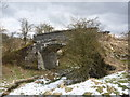 NS4354 : Northern East Ayrshire : Pollick Farm Bridge (looking north) by Richard West