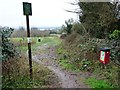 ST6572 : Entrance to Cock Road Ridge Open Space by Christine Johnstone