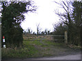 TM4280 : Field entrance off Strawberry Lane junction by Adrian Cable