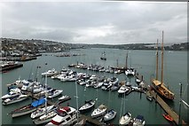 SW8132 : Marina and quayside at Falmouth by David Smith