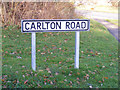 TM3864 : Carlton Road sign by Geographer