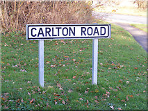 TM3864 : Carlton Road sign by Adrian Cable