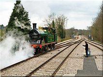 TQ3837 : Running round at East Grinstead, Bluebell Railway by Robin Webster