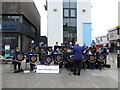 H4572 : St. Eugene's Brass Band entertains in Omagh by Kenneth  Allen
