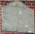 TL2630 : Plaque on Roe's almshouses, Weston by Humphrey Bolton
