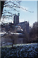 SO8454 : Worcester Cathedral across the Severn by Christopher Hilton