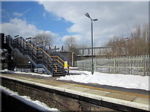 SO9988 : Footbridge, Langley Green Station by Roy Hughes