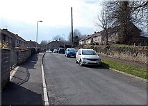 SS8983 : Western section of Church Street, Aberkenfig by Jaggery