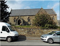 SS8983 : South side of St John's church, Aberkenfig by Jaggery