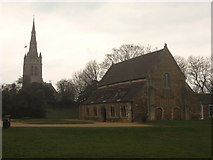 SK8608 : Oakham, All Saints Church and The Great Hall (Oakham Castle) by Ben