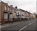 SS8983 : Bridgend Road houses between East Street and New Street, Aberkenfig by Jaggery