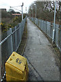 NS6161 : Footpath at Rutherglen Station by Thomas Nugent