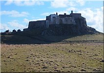 NU1341 : Lindisfarne Castle from the North by Barbara Carr
