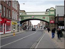 SO8455 : Worcester, Newly Refurbished Foregate Street Railway Bridge by Roy Hughes
