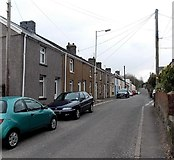SS8983 : Long row of houses, Penyfai Road, Aberkenfig by Jaggery