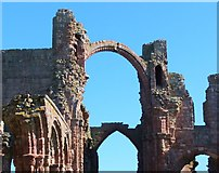 NU1241 : The Rainbow Arch, Lindisfarne Priory by Barbara Carr