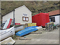 NZ7818 : Staithes Harbour Office by Pauline E