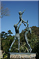 SV8914 : Sculpture in the Abbey Gardens, Tresco by Peter Trimming