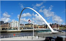 NZ2563 : Gateshead Millennium Bridge by Andrew Curtis