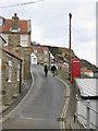 NZ8016 : Lane into Runswick cottages by Pauline E