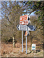 TM4669 : Roadsigns on Westleton Road by Adrian Cable