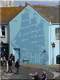 SY6778 : Weymouth: side wall of the Ship Inn by Chris Downer