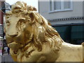 SY6779 : Weymouth: a golden lion by Chris Downer