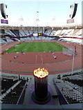 TQ3783 : Stratford: inside the Olympic Stadium by Chris Downer