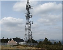 J3630 : Radio and television transmitter on the summit of Drinnahilly by Eric Jones