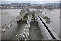 SH7877 : Conwy bridges by Stephen McKay