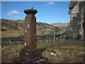 NY5002 : Sundial and war memorial, St Mary's Church, Longsleddale by Karl and Ali