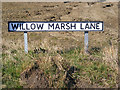 TM4170 : Willow Marsh Lane sign by Adrian Cable
