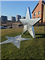 """NS6066 : Roystonhill """"STAR"""" sculpture by Craig Wallace"""