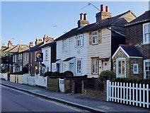 TQ1572 : Weather-boarded cottages by Twickenham Green by Stefan Czapski