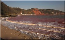 SX9265 : Red sea at Babbacombe by Derek Harper