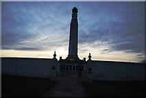 TQ7668 : Chatham Naval Memorial silhouetted by N Chadwick