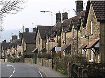 SK2666 : Rowsley - Chatsworth Road Nos 27 to 43 by Dave Bevis