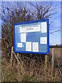 TM4469 : Notice Board at the entrance to Westleton Playing Field by Adrian Cable