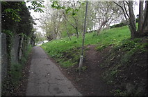 ST0642 : The bottom half of the top half of Church Fields Lane by Stephen Wilks