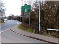 ST3392 : City of Newport boundary sign, Caerleon by Jaggery