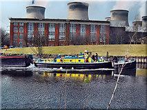 "SE4824 : The Barge ""Wheldale"" passing the old Ferrybridge power station generating house by derek dye"