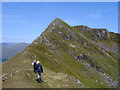 NM9486 : Ridge rising to summit of Streap by Trevor Littlewood