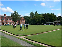 SJ3384 : Bowls on the green at Port Sunlight by Eirian Evans
