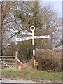 TG1107 : Roadsign on the B1108 Watton Road by Geographer