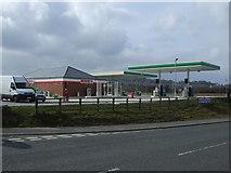 NU1911 : New service station near Alnwick by JThomas