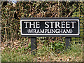 TG1107 : The Street (Wramplingham) sign by Geographer