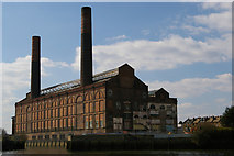 TQ2677 : Former Lots Road Power Station, from the Thames by Christopher Hilton