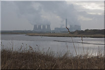 SJ5786 : The River Mersey and Fiddlers Ferry Power Station viewed over Richmond Bank by Ian Greig