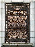 SJ8498 : Holyoake Memorial Plaque by David Dixon