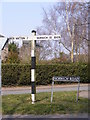 TG0202 : Roadsign  on the B1108 Norwich Street by Adrian Cable